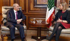 موغريني لبري: توقيت زيارتي تأكيد على دعم لبنان