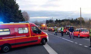 مقتل 4 تلاميذ في حادث تصادم بين قطار وحافلة بفرنسا
