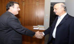 جعجع عرض مع السفير الفرنسي الأوضاع في لبنان والمنطقة
