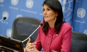 هايلي: ترامب سيواجه إرهاب إيران