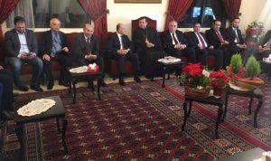 ريفي زار القيادات المسيحية في طرابلس مهنئا بالميلاد