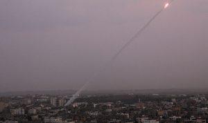صاروخان من غزة الى إسرائيل