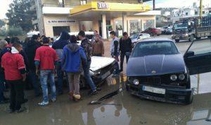 بالصورة… جريحان بحادث سير على طريق حلبا – القبيات