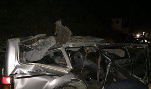 بالصور… قتلى وجرحى في حادث سير مروع على أوتوستراد الزهراني