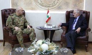 سلسة لقاءات لقائد الجيش في اليرزة