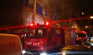 بالصور… حريق داخل منزل في الجاهلية
