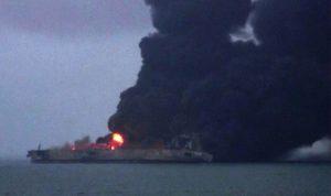 انفجار على متن الناقلة الإيرانية في بحر الصين