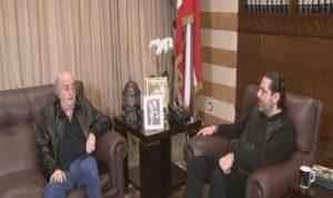 "الحريري بعد لقائه جنبلاط: الرئيس بري ""بيمون"""