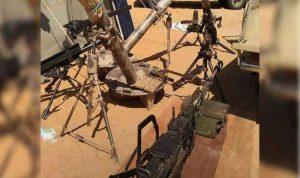 بالصور… ضبط أسلحة حوثية في جبال أم العظم