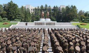 """""""موكب الترهيب"""" قبل الأولمبياد في كوريا الشمالية"""