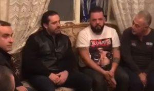 بالفيديو – بعد الحريق… الحريري في مبنى العيتاني