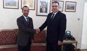 سفير الكويت في الجزائر زار سفير لبنان مهنئا