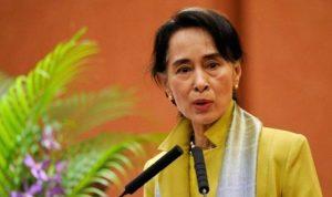 إلقاء زجاجة حارقة على منزل زعيمة ميانمار