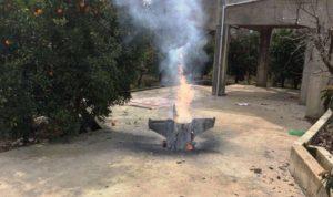 بالصورة… صاروخ في وادي الحاصباني