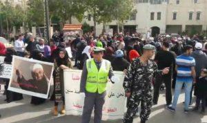 اعتصام لاهالي محكومي احداث عبرا للمطالبة بالعفو العام