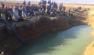 انتشال جثة طفل من بركة مياه زراعية