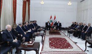 عون للعبادي: لبنان يقف الى جانب وحدة العراق ارضا وشعبا