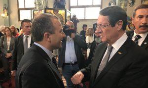 باسيل للجالية في قبرص: أتمنى أن نكون معاً في الانتخابات
