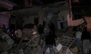 بالفيديو والصور… انهيار مبنى في برج البراجنة