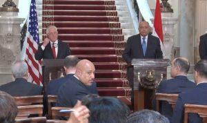 تيلرسون في مصر.. واشنطن والقاهرة معاً ضد الإرهاب