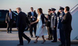 بالفيديو: ترامب ينسى ميلانيا ويحرجها أمام مونيكا!