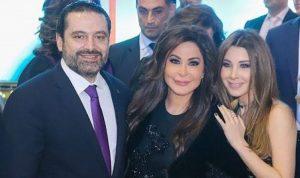 بالصورة… صباح إليسا مع نانسي والحريري