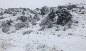 قطع طرقات بسبب الثلوج في الهرمل