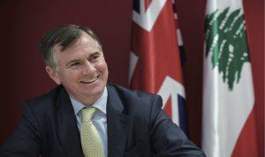 السفير البريطاني: الجيش أكد قدرته على حماية لبنان من أكبر التحديات