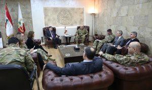 قائد الجيش عرض وساترفيلد الأوضاع العامة في لبنان