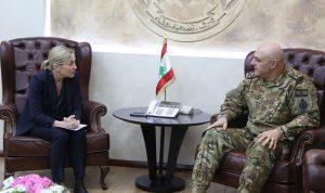 قائد الجيش استقبل سفيرة النروج وبيتر جرمانوس