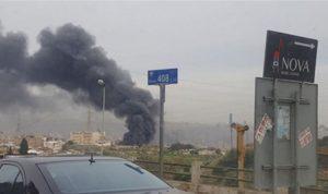 بالصور والفيديو… حريق في مستودع لشركة زيوت في المكلس!