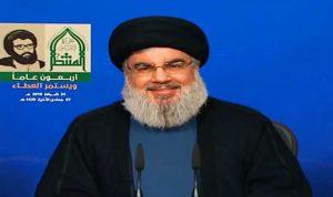 نصرالله يتناول تطورات لبنان والمنطقة الجمعة