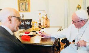 منظمة فرسان مالطا في لبنان بين البابا فرنسيس وصحناوي