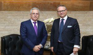 خطار بحث مع سفير النمسا في الوقاية من الكوارث