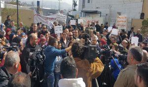 اعتصام لموظفي المستشفيات الحكومية أمام وزارة الصحة