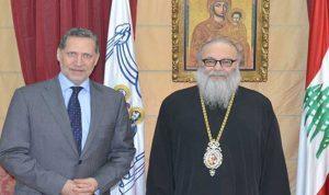 السفير اليوناني في زيارة وداعية للبطريرك يازجي