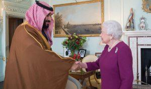 بن سلمان يلتقي الملكة اليزابيت وماي