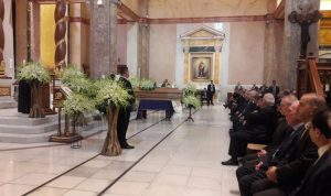 مطر ترأس الصلاة لراحة نفس جوزف عون بحضور رئيس الجمهورية