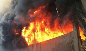 إخماد حريق في منزل في البابلية