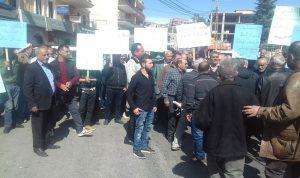 اعتصام لاصحاب ورش البناء والمحال التجارية في الهرمل