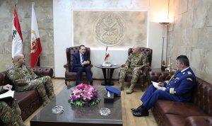 قائد الجيش استقبل سفير رومانيا وكاردل والملحقين العسكريين الأميركي والسعودي