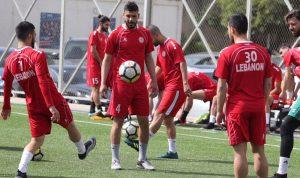 لبنان يختتم تحضيراته لمباراة ماليزيا