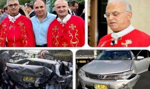 رئيس دير مار شربل في سدني ينجو من حادث مروّع