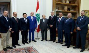 عون استقبل وفدا من رؤساء روابط مخاتير جبل لبنان