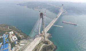 أطول جسر معلق بالعالم… في تركيا!