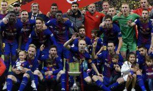 برشلونة يسحق إشبيلية بخماسية ويحرز مجددا لقب كأس الملك