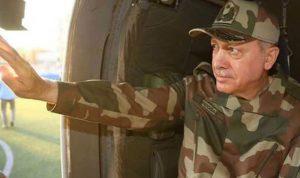 """عندما ارتدى أردوغان """"البزة العسكرية"""""""