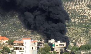 بالصور… حريق بمحطة محروقات في حاصبيا