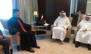 الراعي زار وزير خارجية قطر