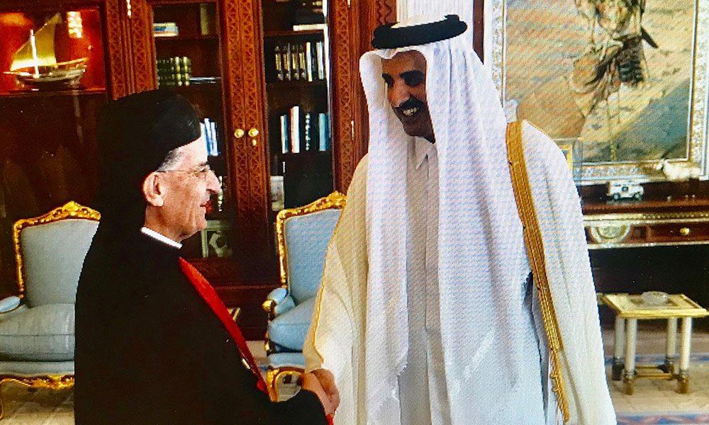 الراعي يلتقي أمير قطر ورئيس مجلس الوزراء